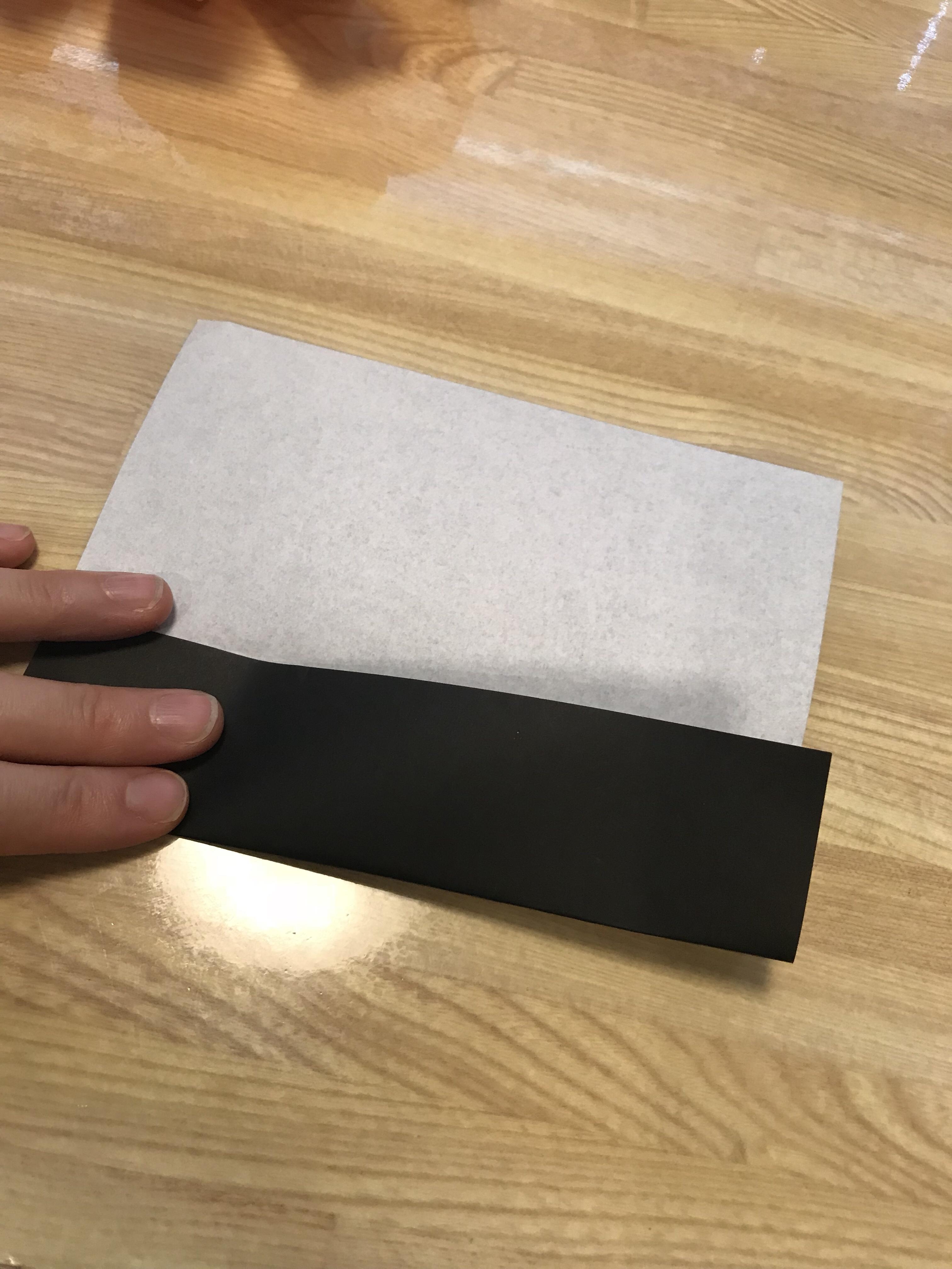 上手に書くためのガイド線の折り方