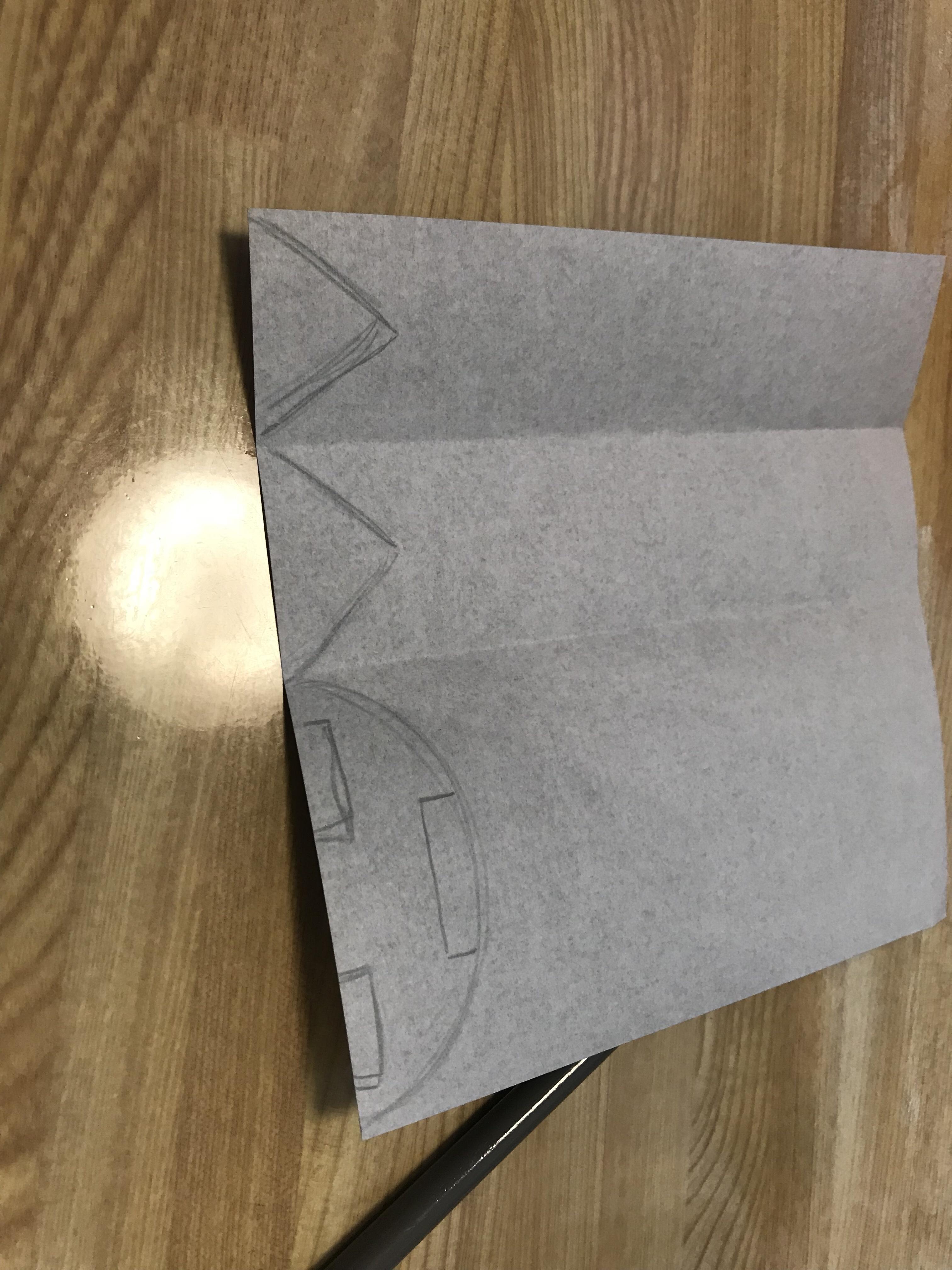 ジャックオランタンの目と口の型紙