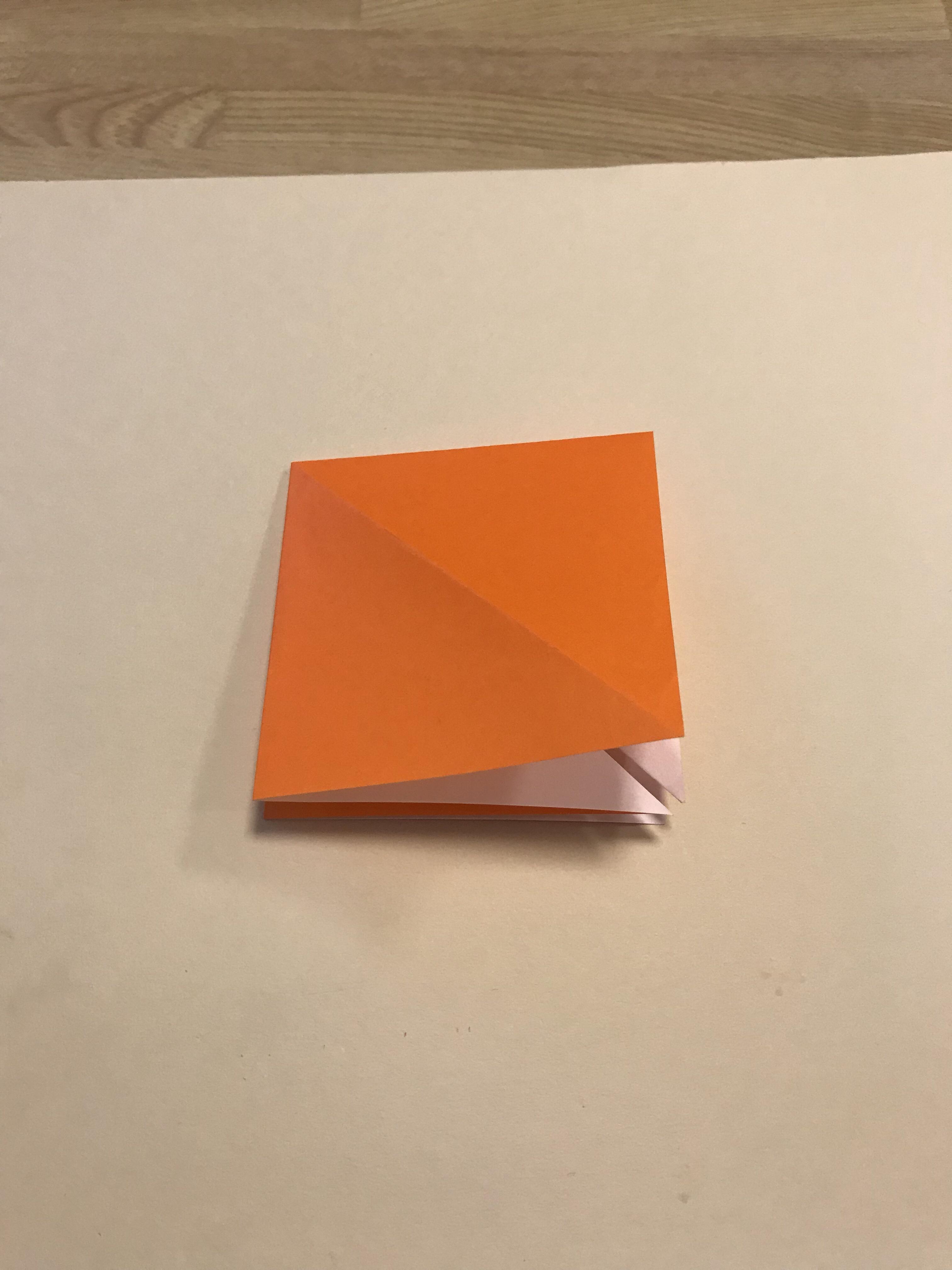 袋を開いて、両面四角が作れた図