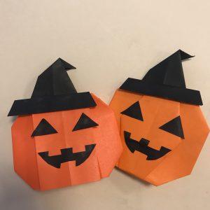 ハロウィンかぼちゃ折り紙簡単な作り方2種類