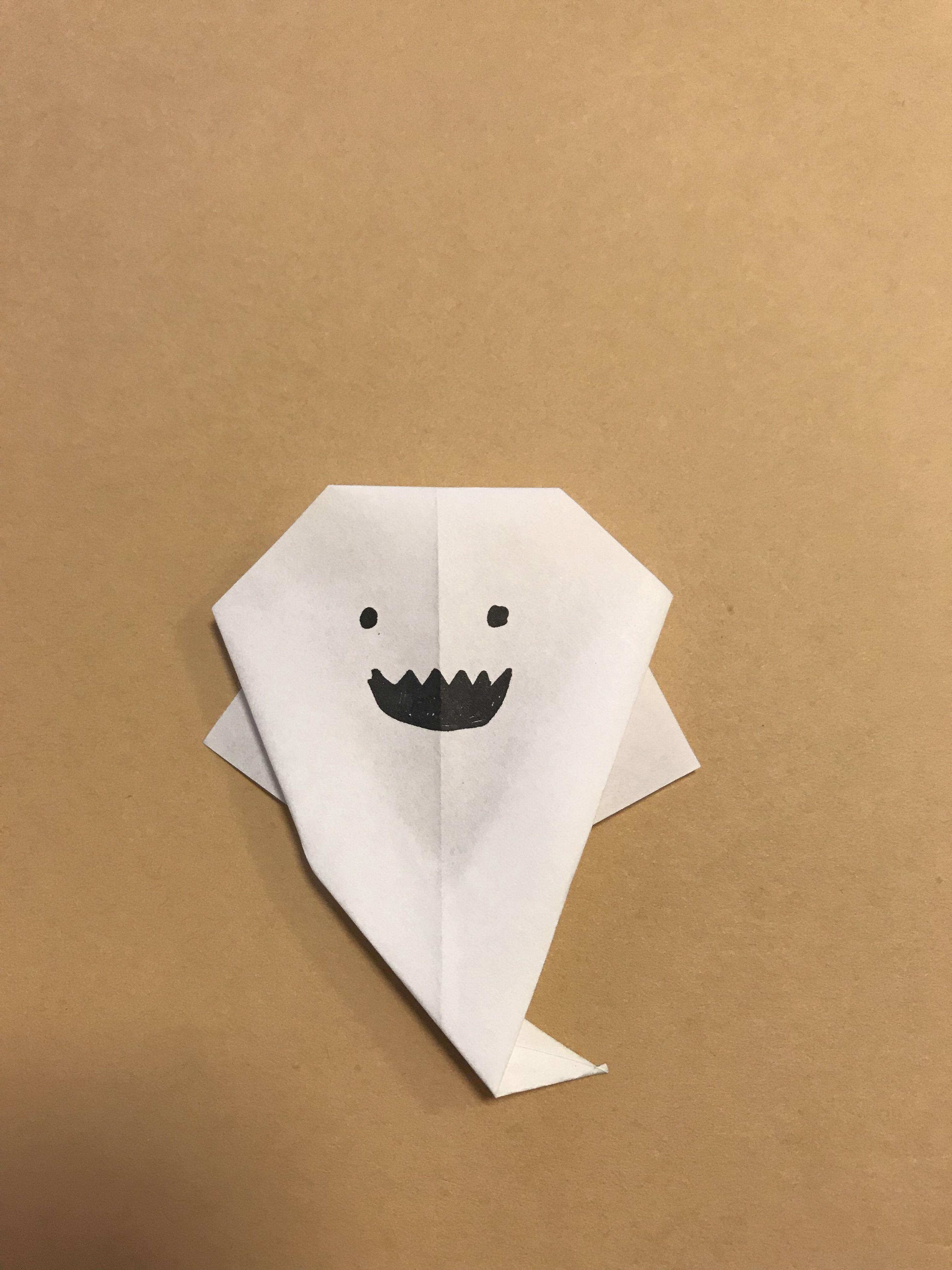 ハロウィンおばけ折り紙完成写真